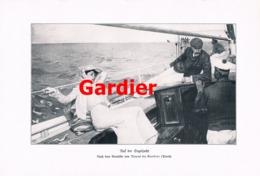 908 Raoul Du Gardier Segeljacht Segelboot  Druck 1905 !! - Prints