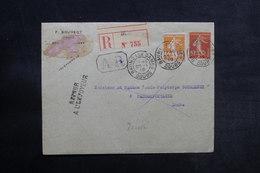FRANCE - Enveloppe En Recommandé AR De Baume Les Dames Pour Passonfontaine En 1919 Et Retour - L 33160 - Marcophilie (Lettres)