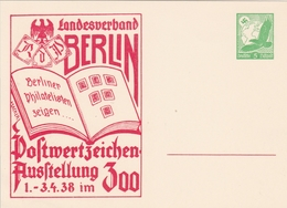 Allemagne Entier Postal Illustré 1938 - Allemagne
