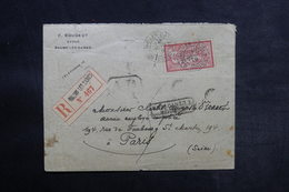 FRANCE - Enveloppe En Recommandé AR De Baume Les Dames Pour Paris En 1919 Et Retour - L 33161 - Marcophilie (Lettres)
