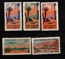 COTE Des SOMALIS - 1947 - YT N° 264 / 267 + 270 - * - Tente Dankil - Côte Française Des Somalis (1894-1967)