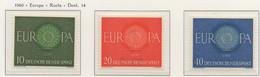 PIA - GERMANIA - 1960  : Europa - (Yv 210-12) - [7] République Fédérale