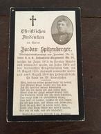Sterbebild Wk1 Bidprentje Avis Décès Deathcard KUK IR91 Italien Italia 6. August 1916 Aus Irresdorf - 1914-18