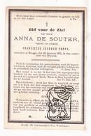 DP Anna De Souter ° 1792 † Brugge 1871 X Franciscus J. Poppe - Santini