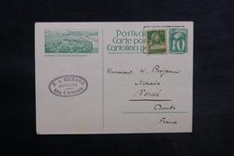 SUISSE - Entier Postal + Complément De Bôle Pour La France En 1927 - L 33162 - Entiers Postaux