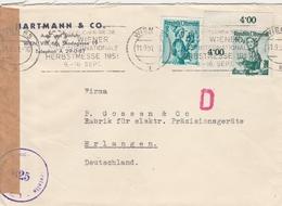 Autriche Lettre Censurée Pour L'Allemagne 1951 - 1945-60 Lettres
