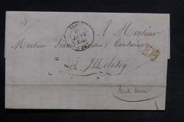FRANCE - Lettre De Brest Pour Melesey En 1846, Cachet PP Rouge Encadré - L 33166 - Marcophilie (Lettres)