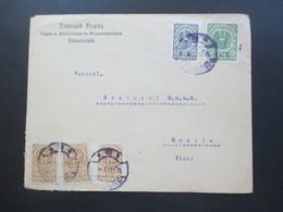 Österreich 1921 Wappenzeichnung MiF Mit Renner Gezähnt Und Ungezähnt Nr. 275 Leonard Franz Brauereiartikel Innsbruck - 1918-1945 1ère République