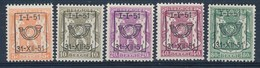 BELGIE - OBP Nr PRE 609/613 - Typo - Klein Staatswapen - Préo/Precancels - MNH** - Preobliterati