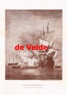 915 Van De Velde Kanonenboot Segelschiff Druck 1901 !! - Prints