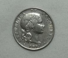 Silber/Silver Kolumbien/Colombia Liberty Head, 1897, 20 Centavos VZ+/XF+ - Kolumbien
