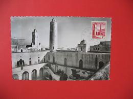 Carte Maximum  1954 N° 367  De Sousse Tunisie  - Cour Intèrieure Du Ksar, Ancien Monastère Musulman - Tunisia (1888-1955)