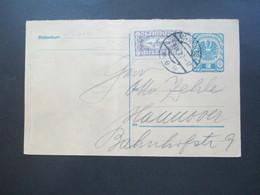 Österreich 1921 Drucksachen Eilmarke Nr. 417 Als Zusatzfrankatur Auf Ganzsache Nach Hannover. Karl Arnold Briefmarkenhan - 1918-1945 1. Republik