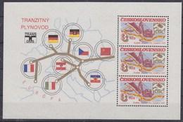 Czechoslovakia 1985 Transgas 3v From M/s  ** Mnh (43265) - Blokken & Velletjes