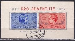Switzerland / Schweiz / Suisse : 1937 Pro Juventute : Gestempelter Block Michel B 3 - Blokken