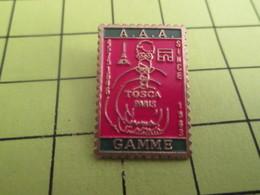 613d Pin's Pins / Beau Et Rare : THEME POSTES / TIMBRE POSTE TOSCA PARIS GAMME AAA - Mail Services
