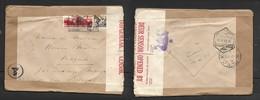 Switzerland 1943 30c Cover >.Magude, Mozambique, RESANO GARCIA 23.11.43 Transit, Union Censor Tape - Schweiz