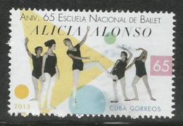 Cuba 2015 65th Anniversary Of Ballet School 1v MNH - Baile