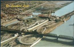 POSTAL ST LAWRENCE SEAWAY - AERIAL OF ST LAMBERT LOCK - C9287 - CANADA - Canadá