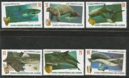 Cuba 2015 Prehistorical Caribbean Animals 6v + S/S MNH - Ballenas