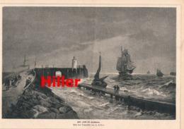 921 Hiller Alte Liebe Cuxhaven Segelboot Druck 1882 !! - Prints