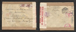 Switzerland 1943 30c Cover, NEUCHATEL 25.5.43 >.Magude, Mozambique, RESANO GARCIA 19.8.43 Transit, German & Union Censor - Schweiz