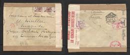 Switzerland 1943 30c Cover, NEUCHATEL 25.5.43 >.Magude, Mozambique, RESANO GARCIA 19.8.43 Transit, German & Union Censor - Switzerland
