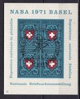 Switzerland / Schweiz / Suisse : 1971 NABA  Basel Block Ersttagstempel  Michel B 21 - Blokken