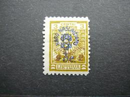 Lietuva Lithuania Litauen Lituanie Litouwen # 1926 MH # Mi. 247 - Litauen