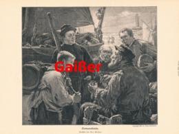 924 Max Geißer Seemannslatein Hafen Seemann Druck 1906 !! - Prints