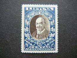 Lietuva Litauen Lituanie Litouwen  Lithuania # 1933 MH # Mi. 359 A - Litauen