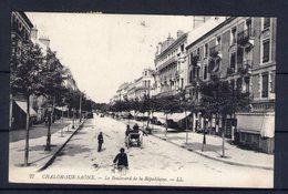 71. Chalon Sur Saone. Boulevard De La République. Vignette Du Carnaval 1914 - Chalon Sur Saone