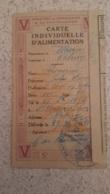 CARTE INDIVIDUELLE D'ALIMENTATION COMMUNE DE VALMY 1918 - 1914-18