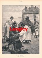 925 Langley Fischerdorf Fischer Seemann Druck 1906 !! - Prints