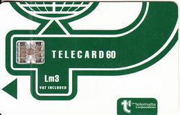 MALTA - Telecom Logo Lm 3(vat Included), CN : C56150776, Chip SC7, 05/95, Used - Malta