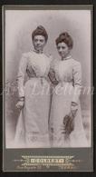 LARGE Photo-carte De Visite / CDV / Femmes / Women / Photographer Colbert / Tournai / Doornik / Size: 7.60 X 14 Cm. - Anciennes (Av. 1900)