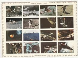 UMM AL QIWAIN - BLOC Cartonné ** NON DENTELE (1972) ESPACE - Histoire Du Cosmos : Apollo 15 - Asia