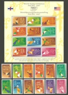 NETHERLANDS ANTILLES 1997 PACIFIC CHINESE ZODIAC SET & M/SHEET MNH - Curacao, Netherlands Antilles, Aruba