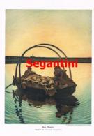 928 Giovanni Segantini Ave Maria Boot Kunstblatt Druck 1910 !! - Prints