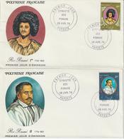 Polynésie FDC 1976 Dynastie Des Pomaré PA 106 à 109 - FDC
