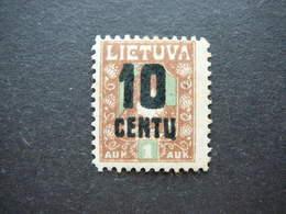 Lietuva Lithuania Litauen Lituanie Litouwen # 1922 MH # Mi.167 - Litauen