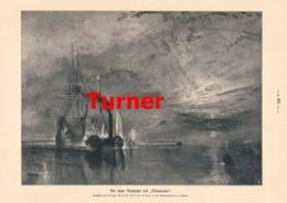 930 William Turner Letzte Ausfahrt Des Temeraire Segelschiff Druck 1910 !! - Prints