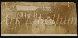 Photo Ancien / Foto / Femmes / Women / Garden / Jardin / Size: 4.60 X 10.30 Cm. - Photos