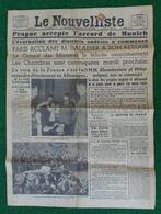 """Journal """"Le Nouvelliste"""" - N° 274 - Samedi 1er Octobre 1938 - Les Accords De Munich - Newspapers"""