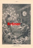 931 Erwin Kröner Weihnachten An Bord Seeleute Druck 1910 !! - Prints