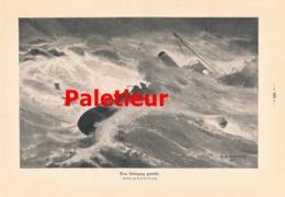 933 Palezieur Dem Untergang Geweiht Seenot Druck 1910 !! - Prints