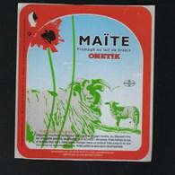 Etiquette Fromage Maïté Au Lait De Brebis ONETIK  Macaye 64 - Cheese