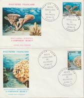 Polynésie FDC 1977 Coraux PA 121 à 122 - FDC