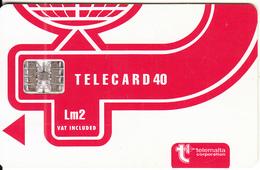 MALTA - Telecom Logo Lm2(vat Included), CN : C55150725, Chip SC7, 05/95, Used - Malta