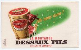 - BUVARD MOUTARDE DESSAUX FILS - AU FAMEUX VINAIGRE ! - - Moutardes